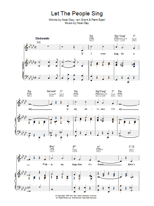 Let The People Sing (Piano, Vocal & Guitar)