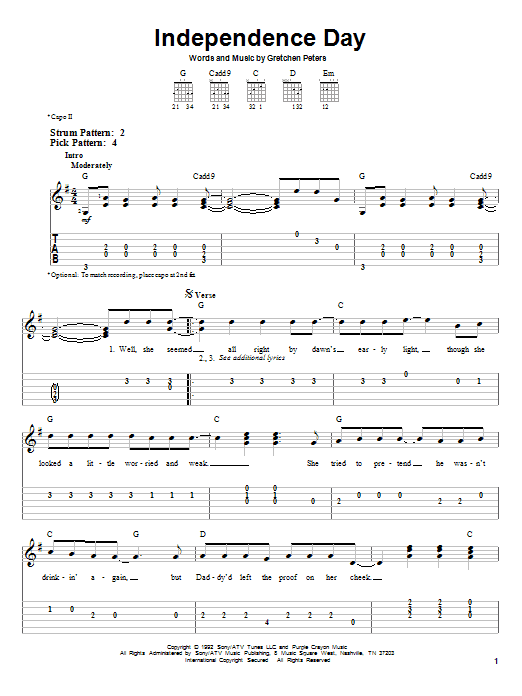 Independence Day Sheet Music