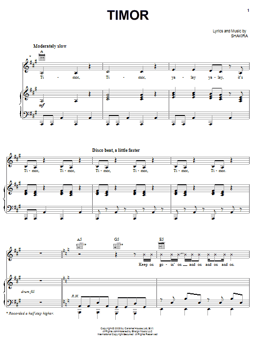 Timor Sheet Music