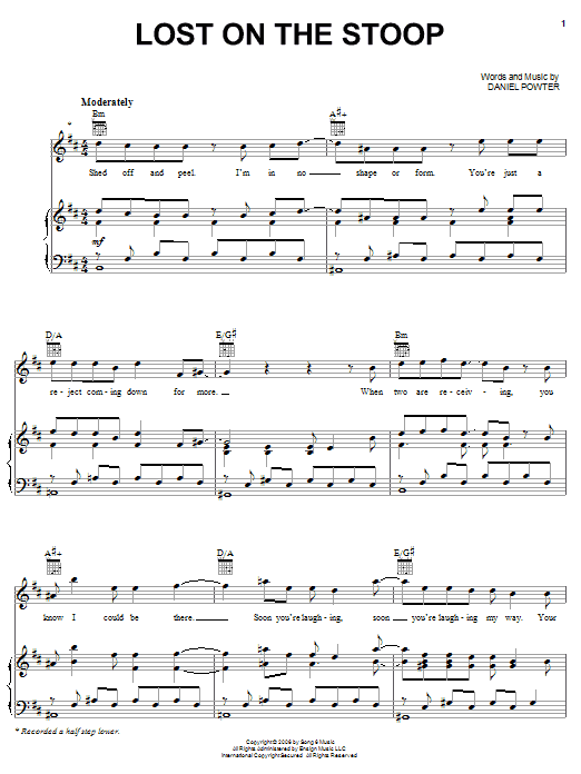 Lost On The Stoop (Piano, Vocal & Guitar (Right-Hand Melody))