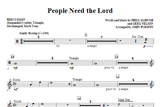 People Need The Lord - Percussion Sheet Music