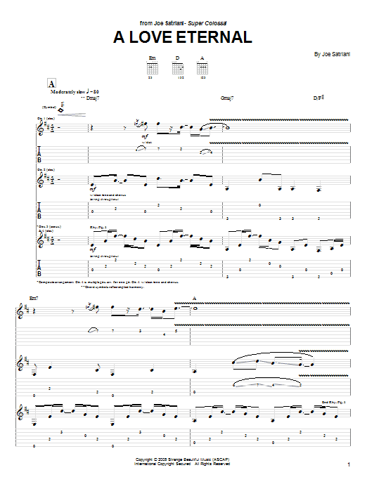 A Love Eternal Sheet Music
