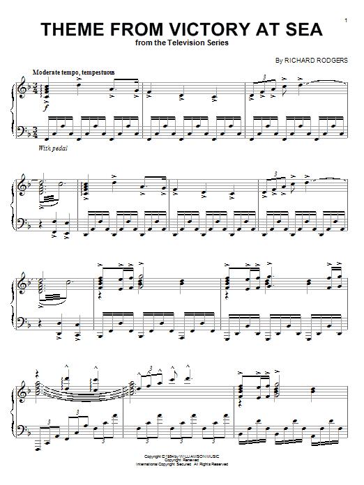 Partition piano Victory At Sea de Richard Rodgers - Piano Solo