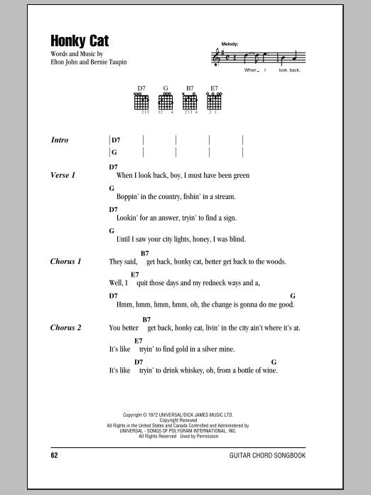 Honky Cat Sheet Music