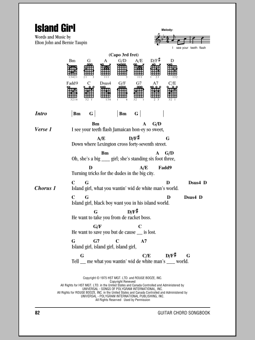 Island Girl Sheet Music