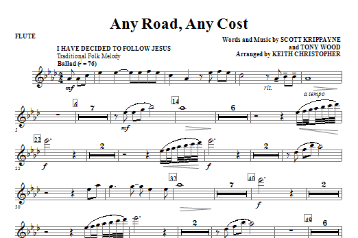 Any Road, Any Cost - Flute Sheet Music