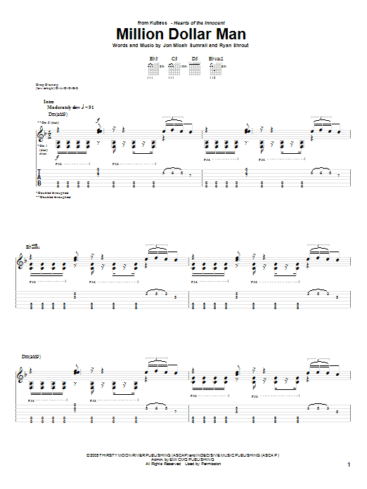 Million Dollar Man (Guitar Tab)