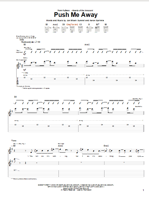 Push Me Away Sheet Music