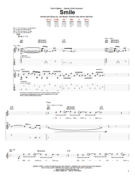 Smile (Guitar Tab)
