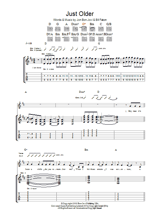 Just Older Sheet Music