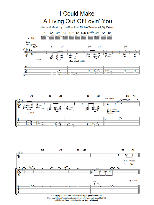 I Could Make A Living Out Of Lovin' You Sheet Music
