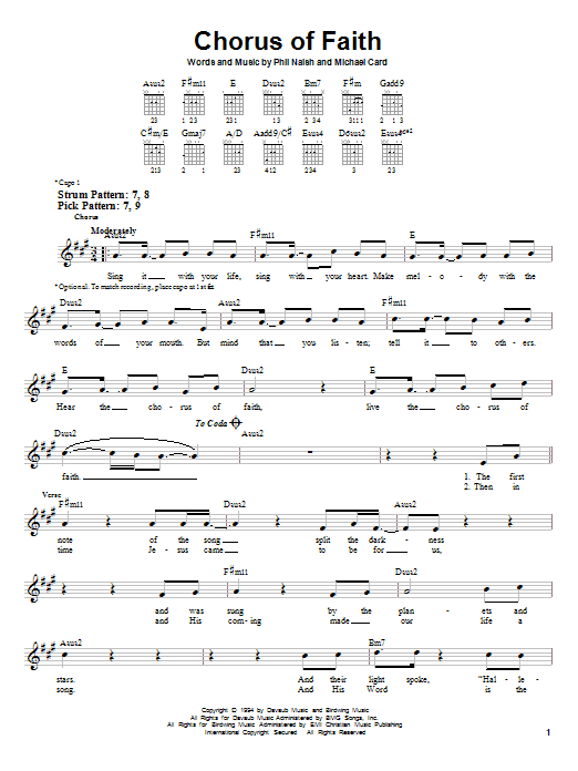 Chorus Of Faith Sheet Music