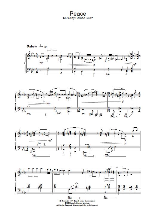 Peace Sheet Music Norah Jones Piano Solo