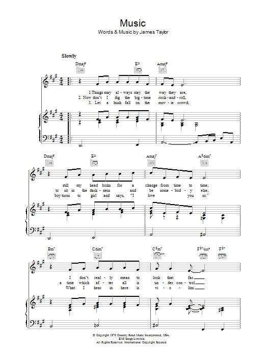 Music (Piano, Vocal & Guitar)