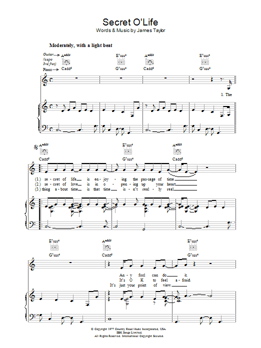 James taylor fire and rain guitar chords