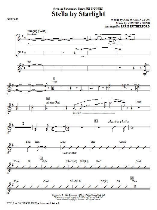 Stella By Starlight - Guitar (Choir Instrumental Pak)