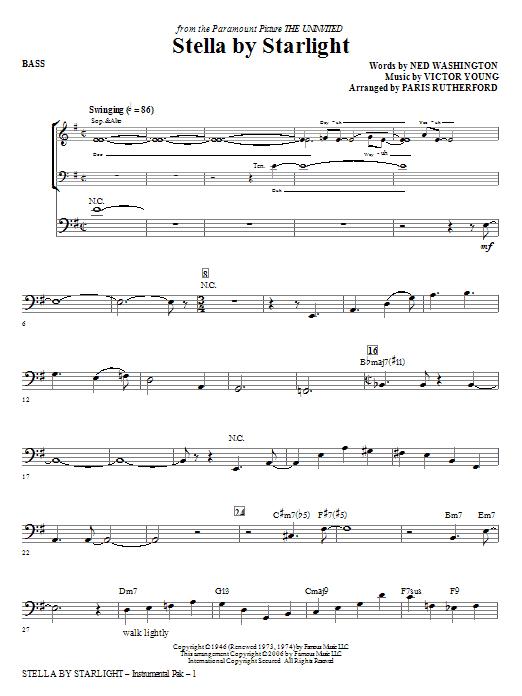 Stella By Starlight - Bass Sheet Music