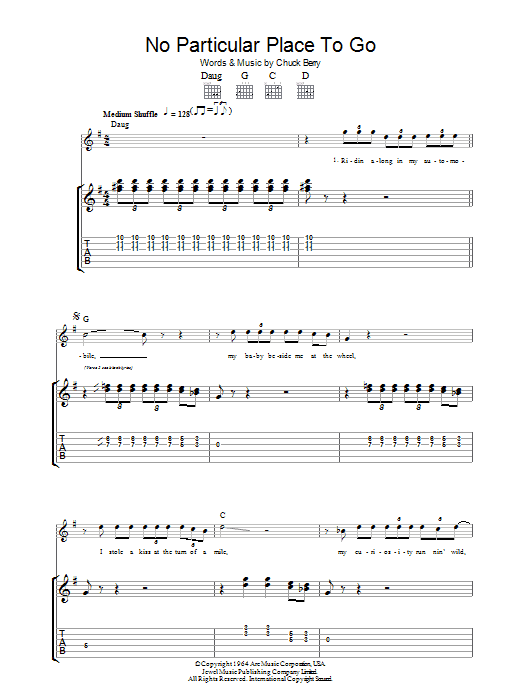 No Particular Place To Go (Guitar Tab)