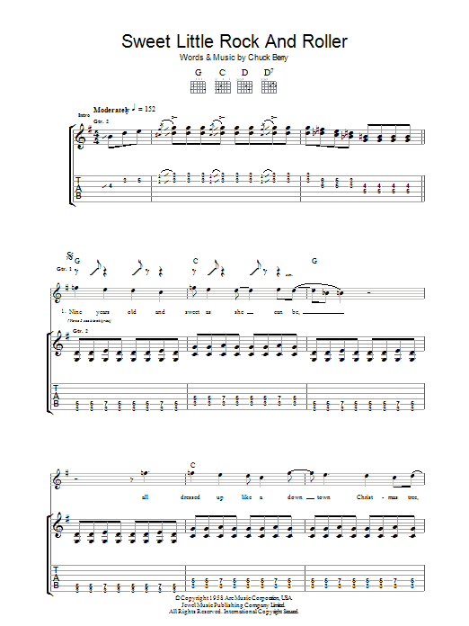 Sweet Little Rock And Roller (Guitar Tab)