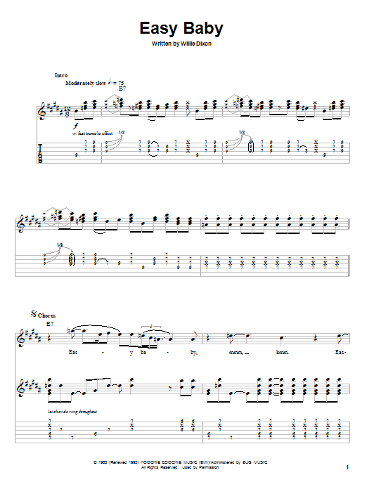 Easy Baby Sheet Music