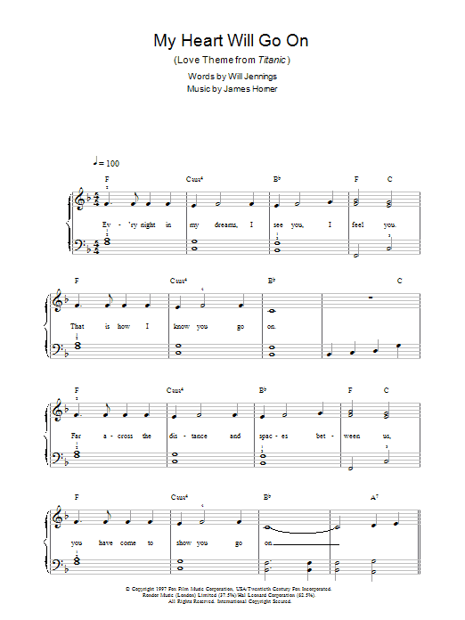 Violin u00bb Violin Chords My Heart Will Go On - Music Sheets, Tablature, Chords and Lyrics