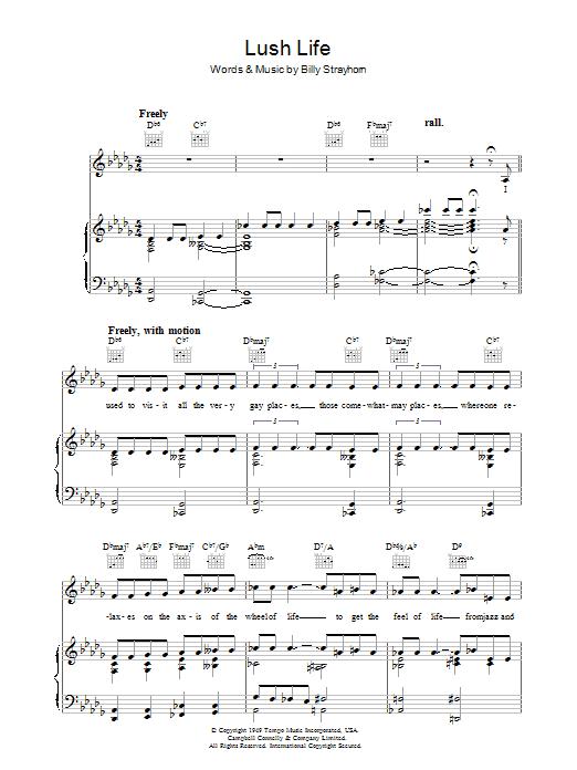 Lush Life (Piano, Vocal & Guitar)