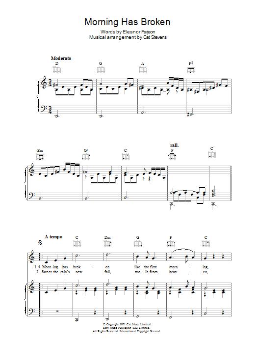 Morning Has Broken (Piano, Vocal & Guitar)