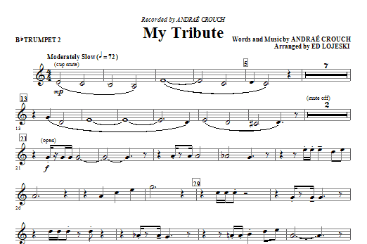 My Tribute - Bb Trumpet 2 Sheet Music