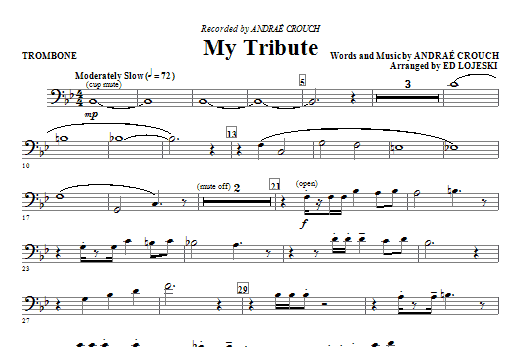 My Tribute - Trombone Sheet Music