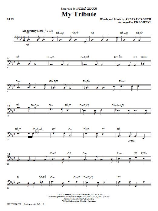 My Tribute - Bass Sheet Music