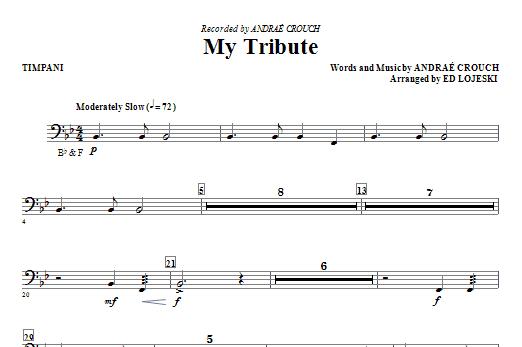 My Tribute - Timpani Sheet Music