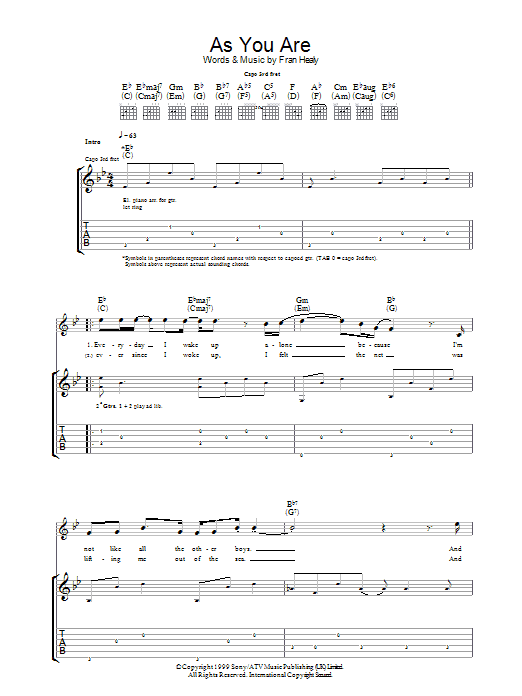 As You Are Sheet Music
