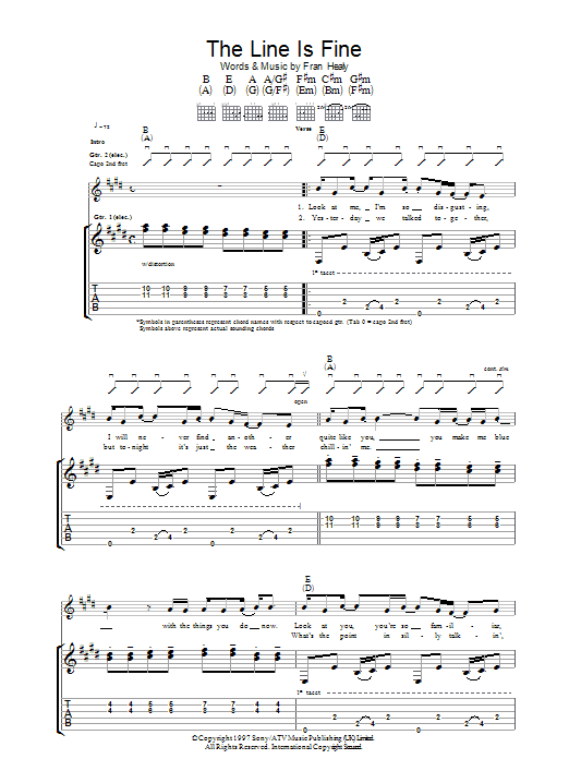 The Line Is Fine Sheet Music