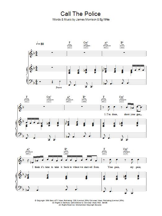 Call The Police (Piano, Vocal & Guitar)