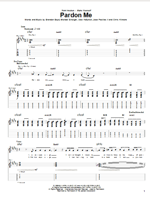 Pardon Me Sheet Music