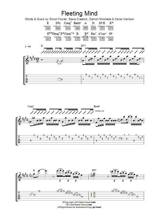 Fleeting Mind Sheet Music