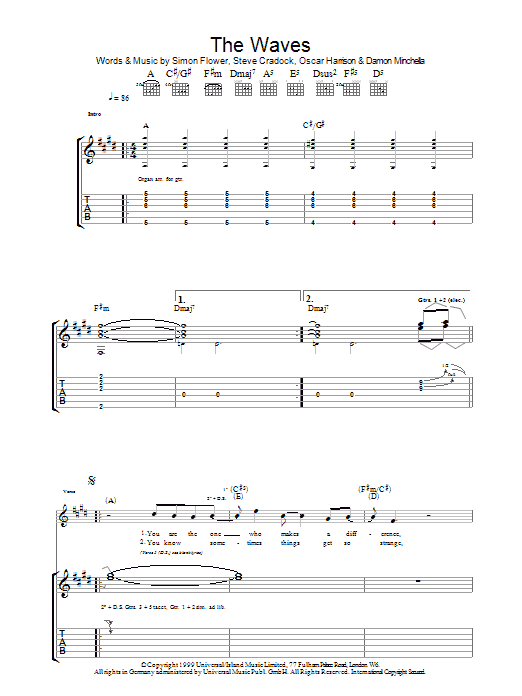 The Waves Sheet Music