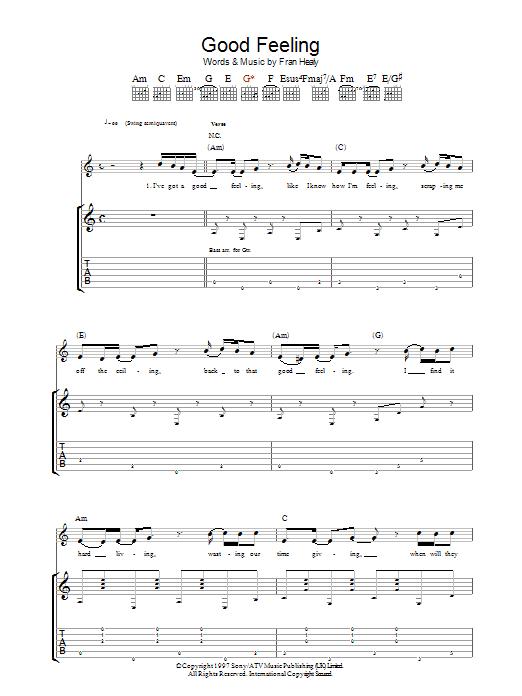 Good Feeling (Guitar Tab)