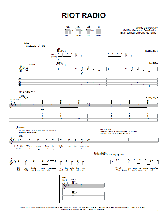 Riot Radio Sheet Music