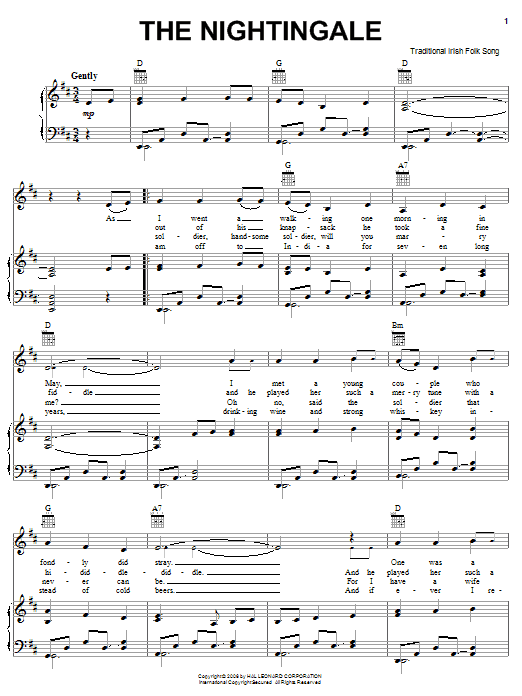 The Nightingale Sheet Music