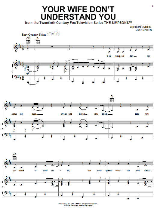 Your Wife Don't Understand You Sheet Music