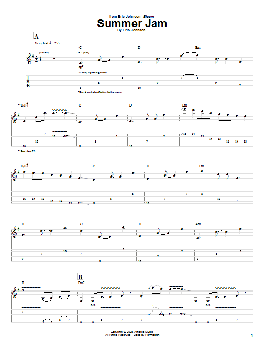 Summer Jam (Guitar Tab)