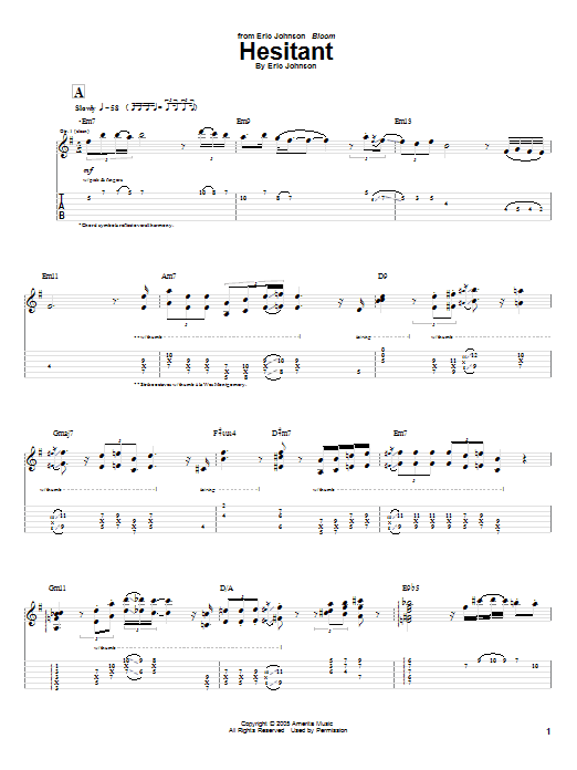 Hesitant Sheet Music