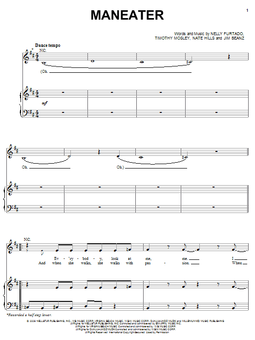 Maneater Sheet Music