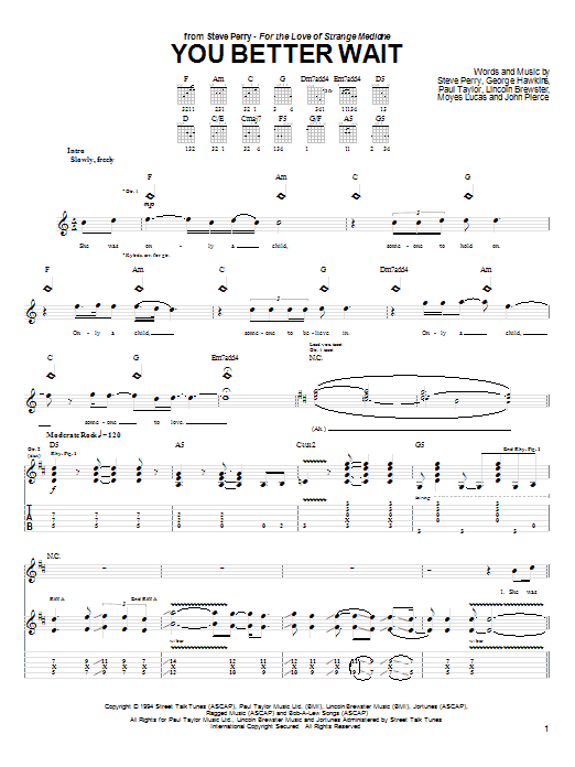 You Better Wait Sheet Music