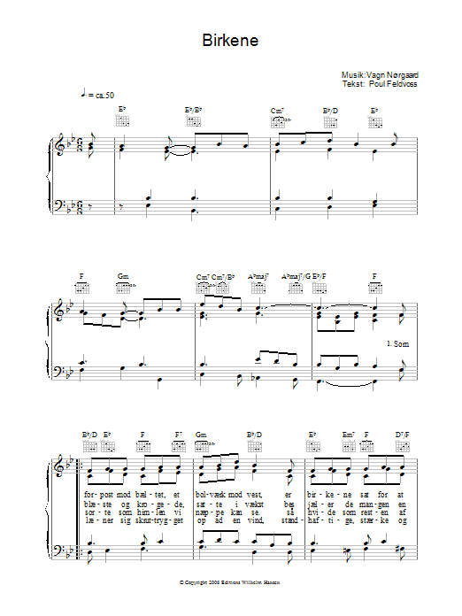 Birkene Sheet Music