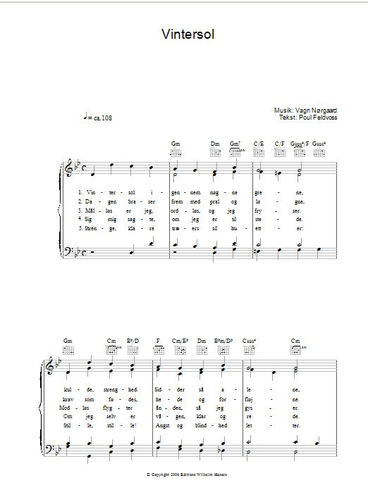 Vintersol Sheet Music
