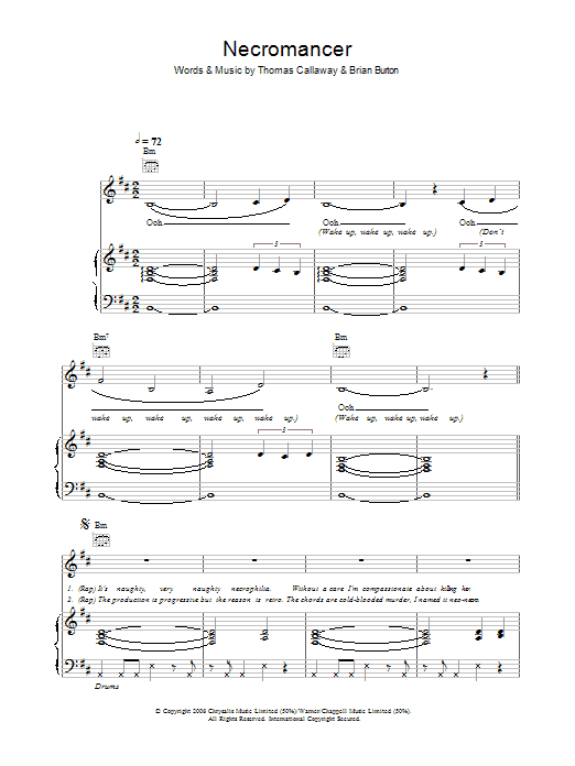 Necromancer Sheet Music