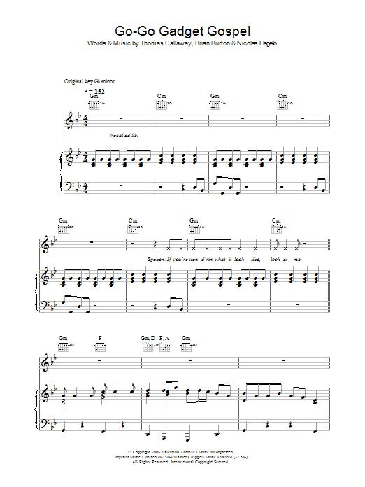 Go-Go Gadget Gospel (Piano, Vocal & Guitar)