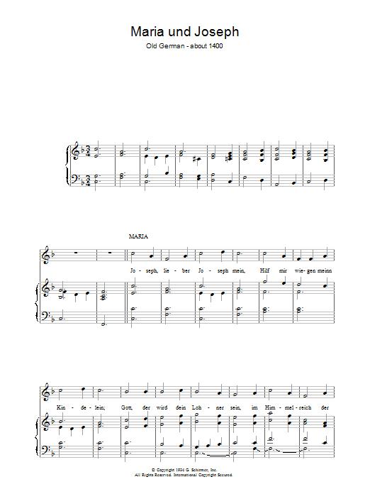 Maria Und Joseph Sheet Music